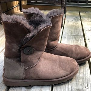 Brown UGG Bailey Button for women